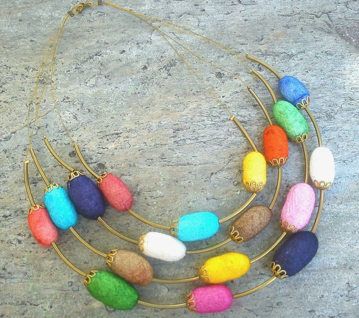 silk cocoons jewelry - necklace No53