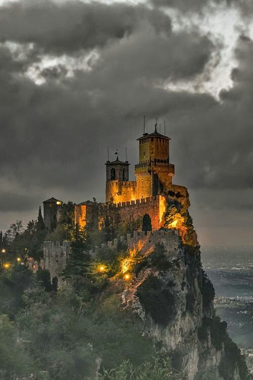 San Marino Castle   Resistance Rising / Genre Wars  - Fantasarian High Kingdom castle   https://robincfarrell.com/resume/genre-wars/