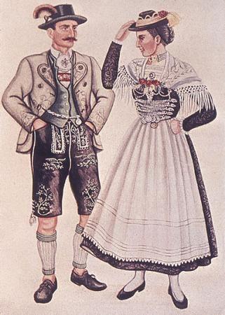 Kostümkunde: Bayrische Volkstracht 1900 bis 1925