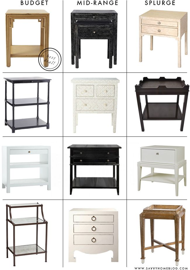 Savvy Home: Looking For: Bedside Tables