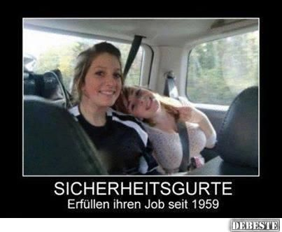 Sicherheitsgurte - Erfüllen ihren Job seit 1959