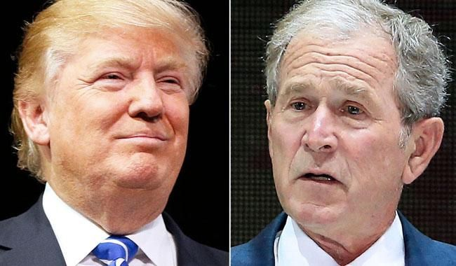 George W. Bush spoke during an interview and leveled tacit criticism at incumbent American President Donald Trump. The former president George Bush's