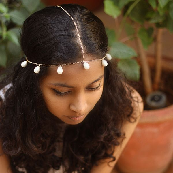 Handcrafted Head Chains by Pigtails and Ponys- Rhea