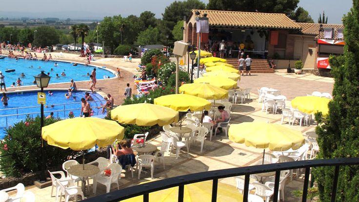 Poolside at Castell Montgri Campsite, Estartit, Costa Brava.  7 nights on offer for £259 instead of £371 from 17th September 2016