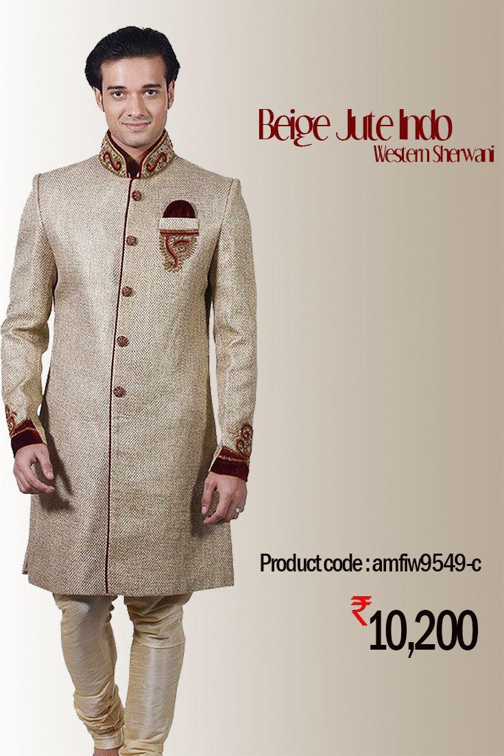 Beige Jute #IndoWestern #Sherwani Indulge yourself in #celebration mood with this #designer #IndoWesternSherwani from the house of #Amafhh #sherwani #indowestern #menswear #designersherwani #shopping #style #mensweddingwear #onlineweddingwear #weddingwear #groomfashion #groomswear #discount #ethnicstore #indianethnic