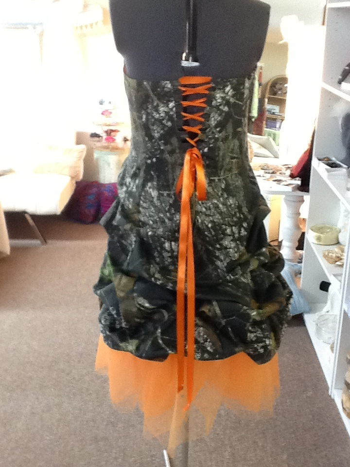 Camo gown we made for one of our prom girls!