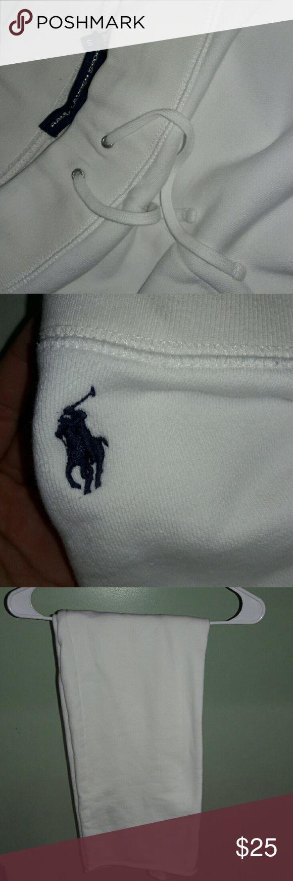 White polo sweatpants No stains, never worn Ralph Lauren Pants Track Pants & Joggers