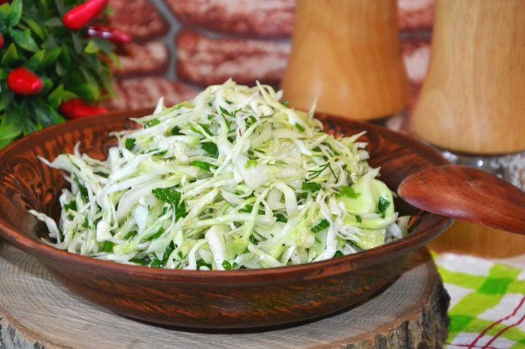 Диета на капустном салате с уксусом