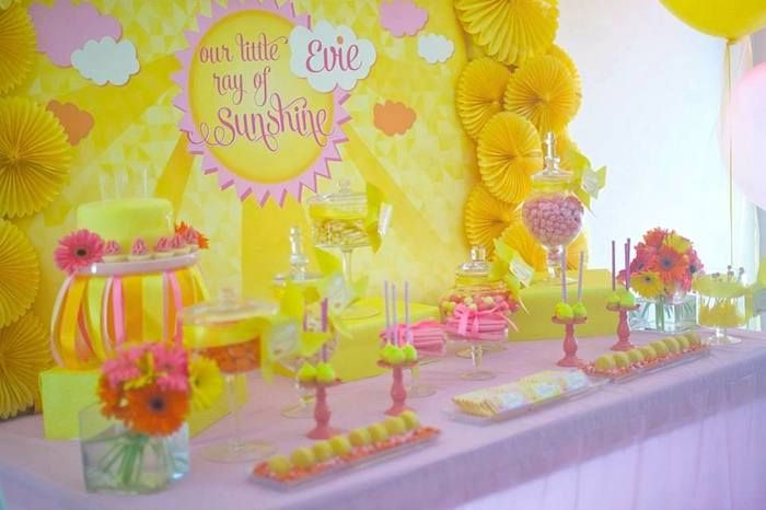 Ray of Sunshine first birthday party #firstbirthday #birthday #party