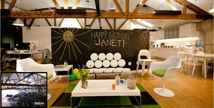 Nice Classroom Design ~ Such a cute idea for employee break room via houzz