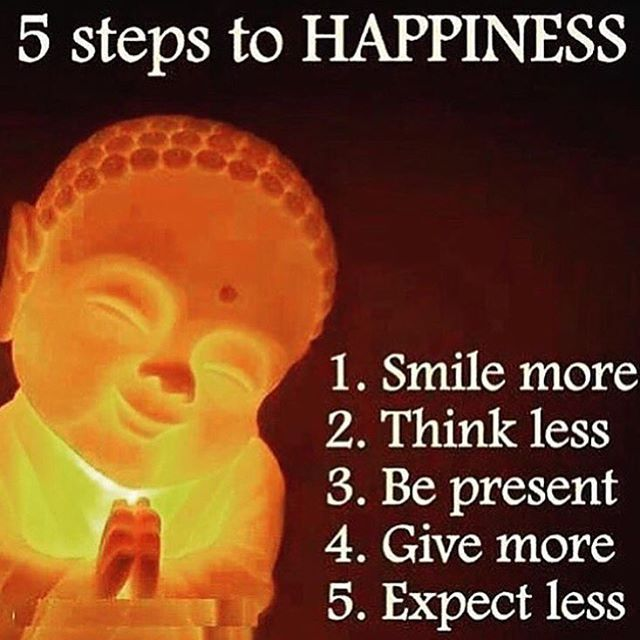 5 steps to happiness.