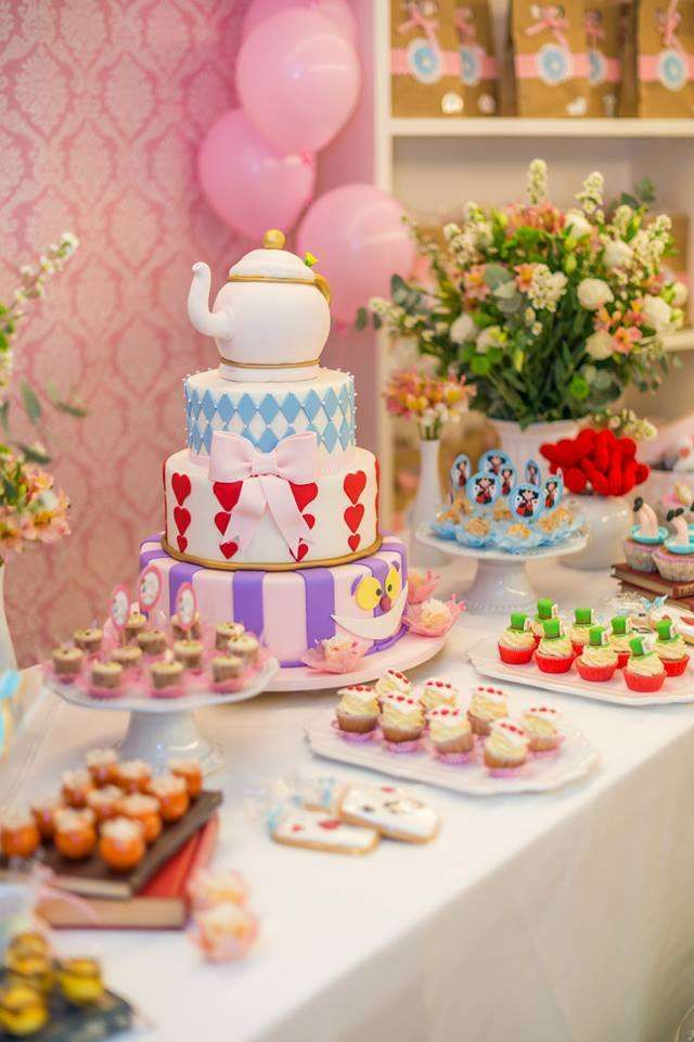 Alice in Wonderland birthday party See more