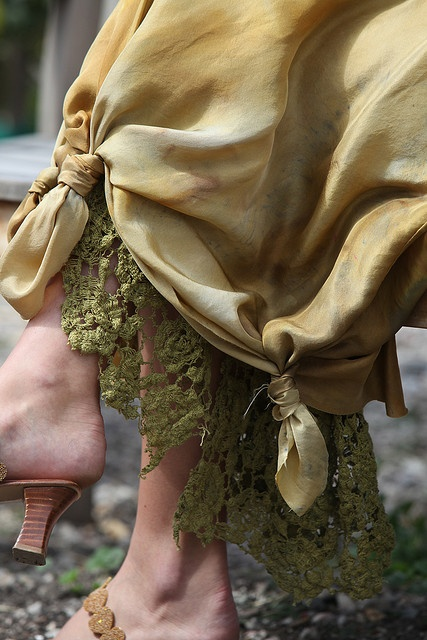 Love this petticoat and silk skirt by Diana Frey, via Flickr