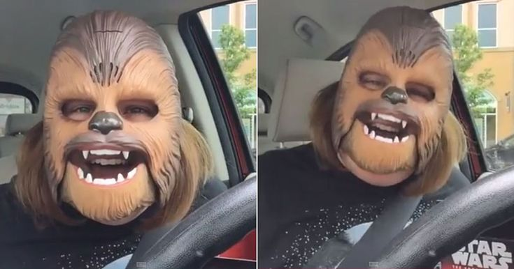 """""""Oh, I'm such a happy Chewbacca!"""" This is what life's all about. The simple joys :)"""