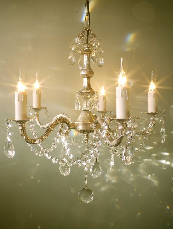 french vintage silver chandelier