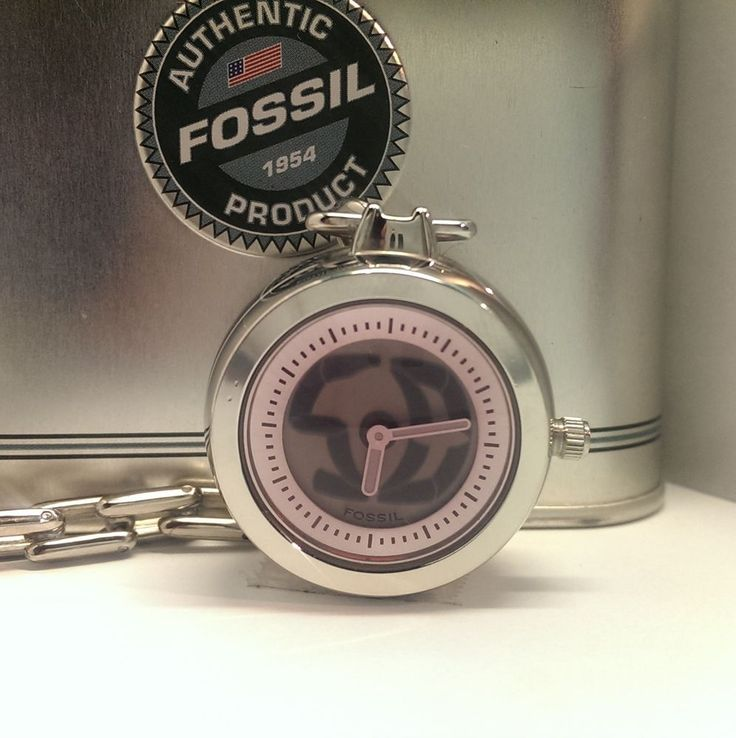 Fossil Big Tic Animated Pocket Watch w/Chain Stainless Steel Original Tin & Paperwork $39.00 USD #Fossil #GiftIdeas www.iiwiiMerchandise.com