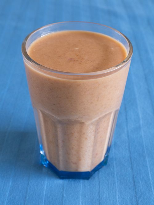Vegan abrikozen kokos amandel smoothie milkshake | www.Alternatief-Idee.net