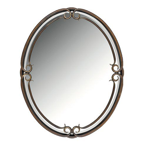 "24""Duchess Oval Mirror Quoizel Oval Mirrors Home Decor"