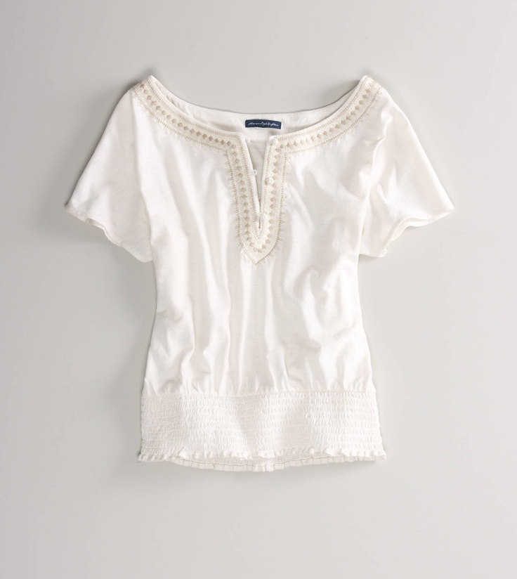 #americaneagle: Hippie Shirts American Eagles, Ae Embroidered, White Shirts, Americaneagl, Awesome Selection, Individual Aeostyl, Eagles Outfitters, Boho Style, Embroidered Tees