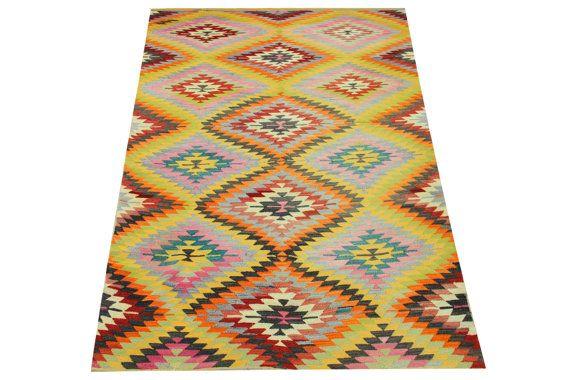 Turkish Kilim rugs 83 x 53 Feet Bohemian Kilim by stripepattern