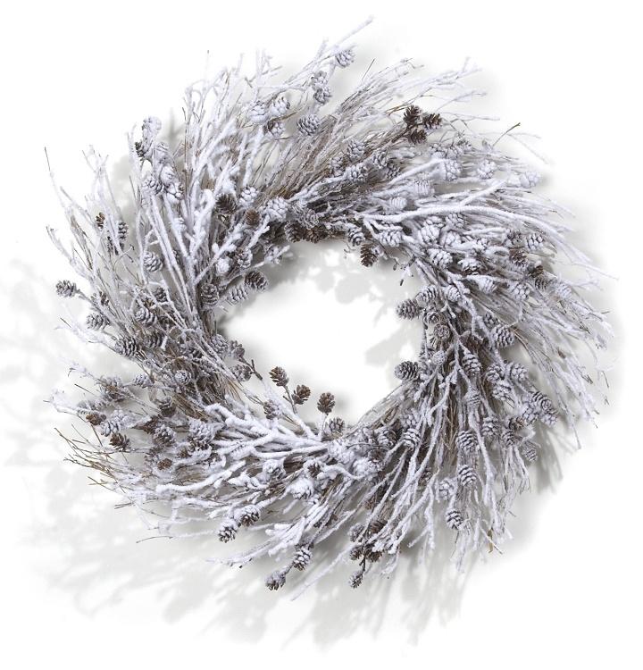 """24"""" Wreath - Snowed Cones"""