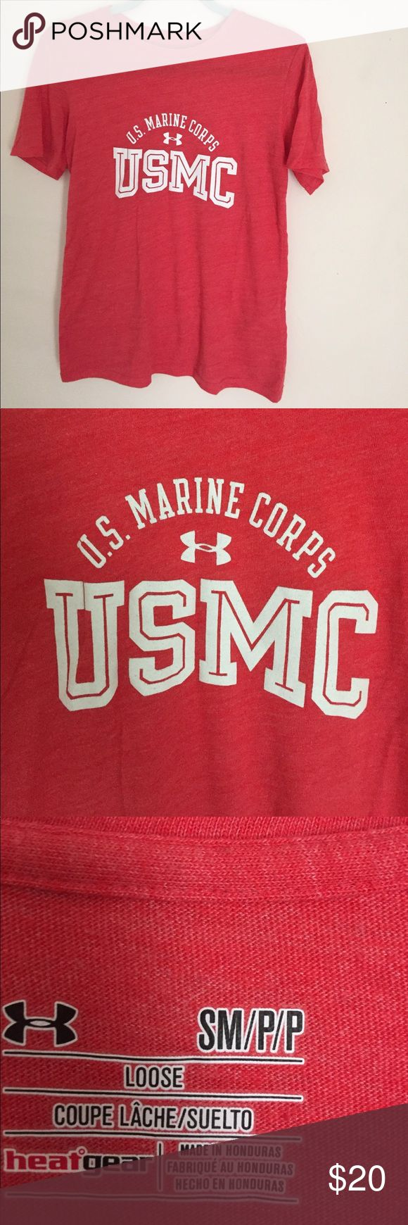 United States 🇺🇸 Marine Corps t-shirt United States 🇺🇸 Marine Corps t-shirt. Women's size small. Worn and washed twice. Shirt is in like new condition. USMC. #supportourtroops Tops Tees - Short Sleeve