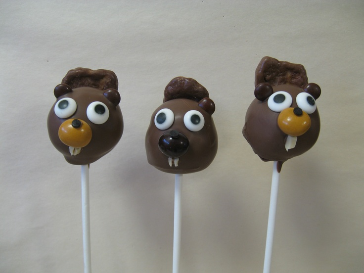 Beavers Cakepops...very Canadian.