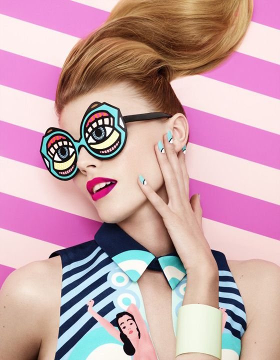 Lacey shot for Vogue Japan using Craig & Karl illustrations