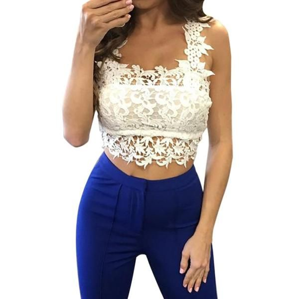 Hot sell Tank Top Women Fashion Summer Lace Crop Tops