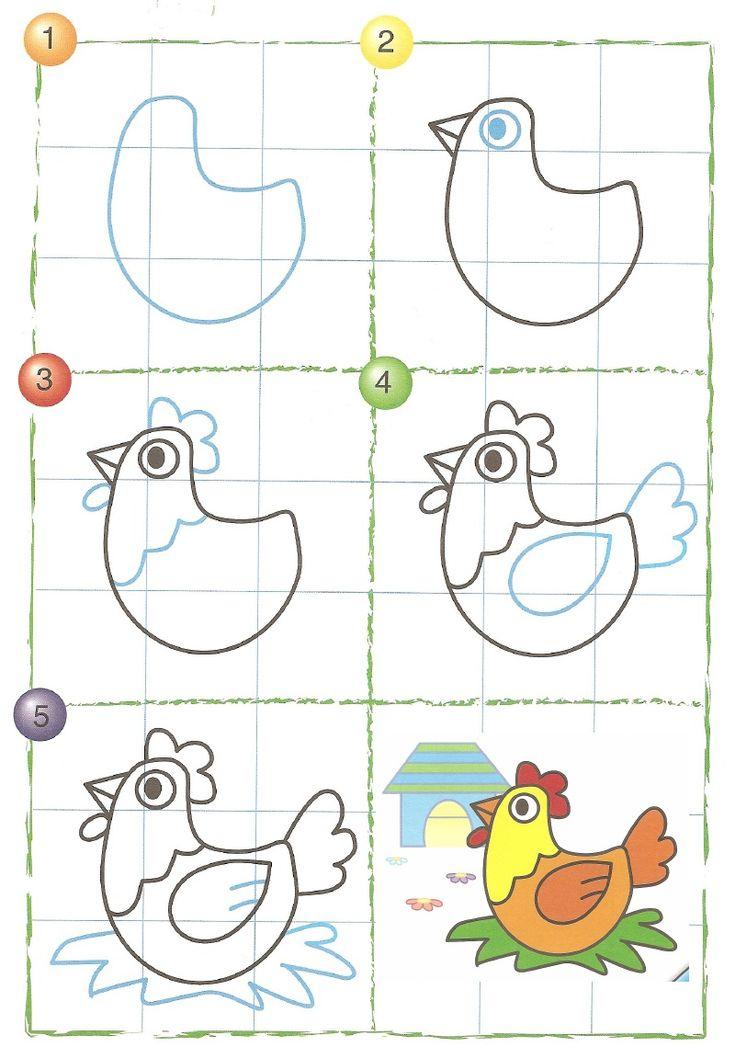 drawing easy animal drawings scribd basic animals