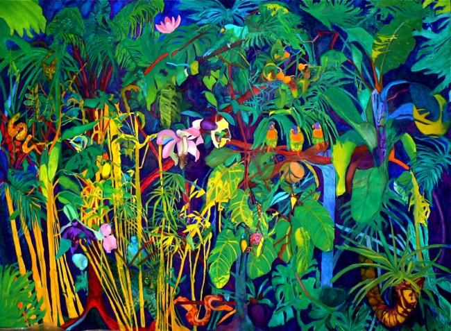 Jungle Animal Wallpaper The Jungle By Klara Elek Boart Pinterest Colorful