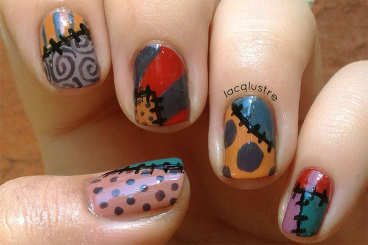 Sally From Nightmare Before Christmas Nail Art Nails I