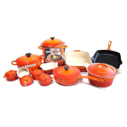 LE CREUSET 20-piece Cookware Set Flame $699.95  BEST PRICE GUARANTEE FREE WORLD SHIPPING (LOCAL ORDER PICK UP IS ALSO AVAILABLE & GET 20% OFF)