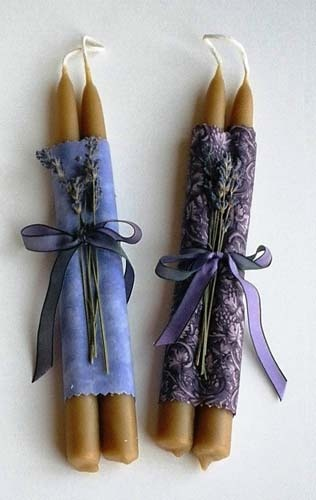 http://enchantedlavender.com  Beeswax Taper candles