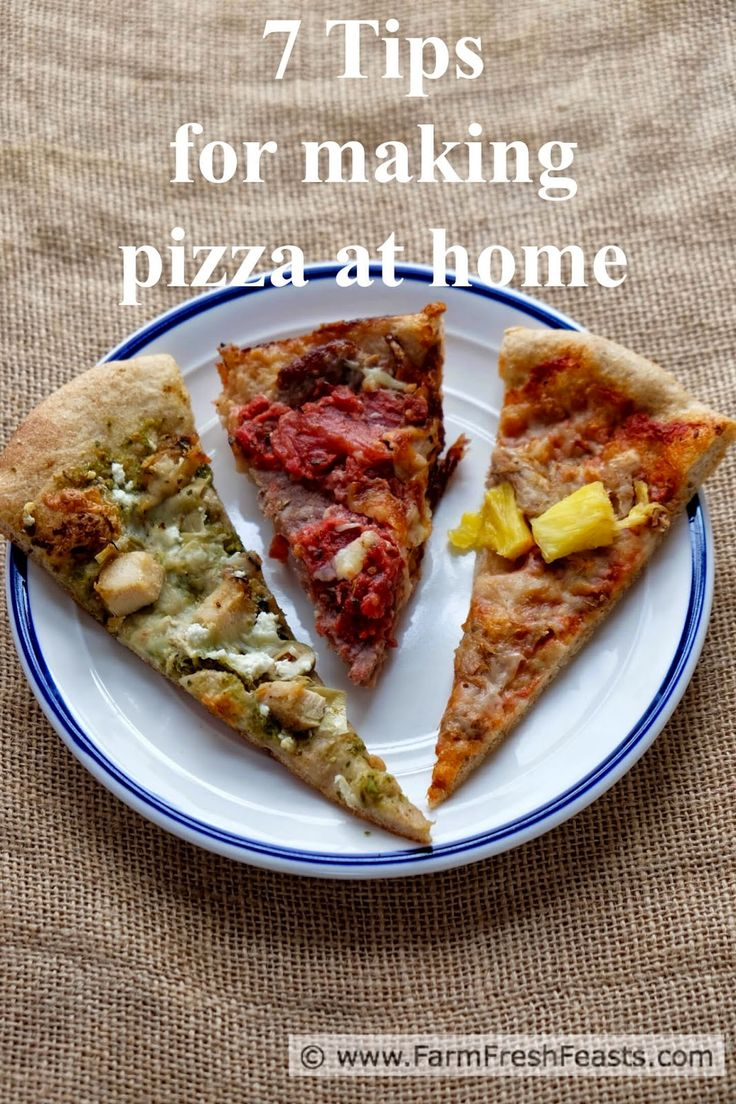 Seven Tips for Making Pizza at Home. Using these tips I have pizza success, not failure, which means more Friday Night Homemade Pizza Nights. (And you don't need to buy a peel!)