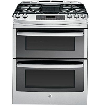 """Amazon.com: GE PGS950SEFSS Profile 30"""" Stainless Steel Gas Slide-In Sealed Burner Double Oven Range - Convection: Appliances"""