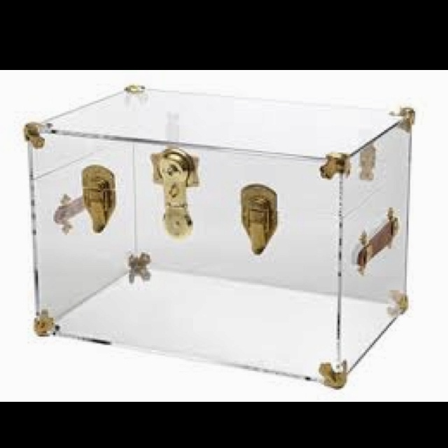 Acrylic trunk. Fabulous coffee table.  For the Home  Pinterest