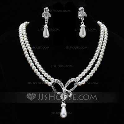 Jewelry - $9.99 - Elegant Alloy Agate With Pearl Rhinestone Women's Jewelry Sets (011019398) http://jjshouse.com/Elegant-Alloy-Agate-With-Pearl-Rhinestone-Women-S-Jewelry-Sets-011019398-g19398?ver=0