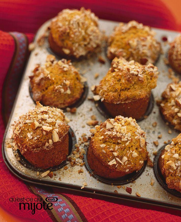 Muffins au son, à la citrouille et aux épices #recette
