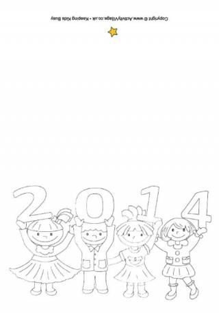 2014 Kids Colouring Card