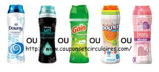 Coupons et Circulaires: 2$ sur DOWNY / GAIN  / BOUNCE