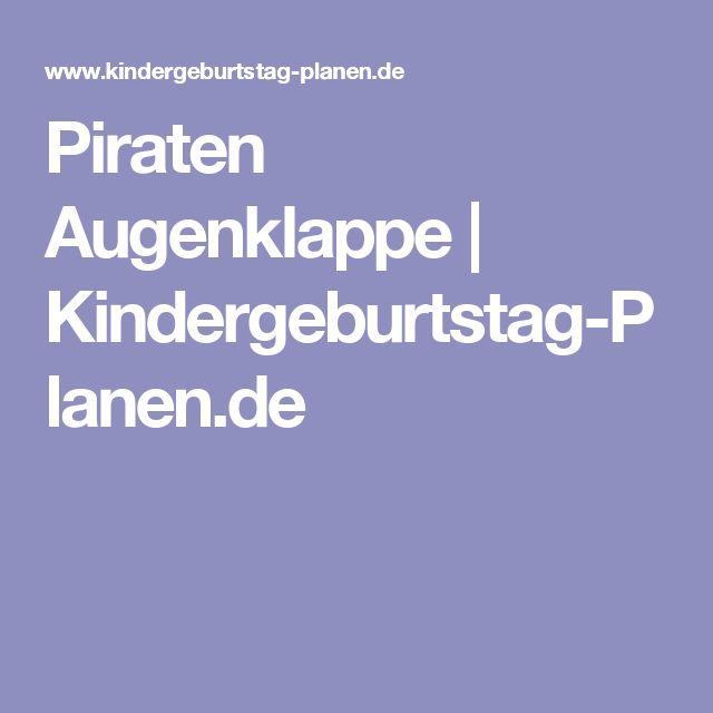 Piraten Augenklappe   Kindergeburtstag-Planen.de