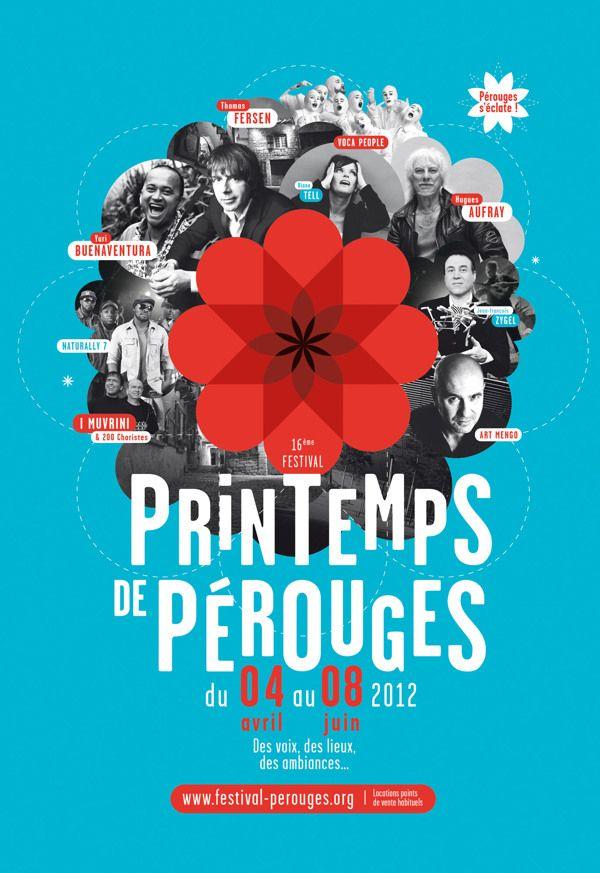 Printemps de Pérouges - Brand identity by Graphéine , via Behance