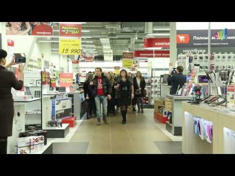 """Flashmob in the shop - the war song of the Great Partiotic War """"Smuglianka"""""""