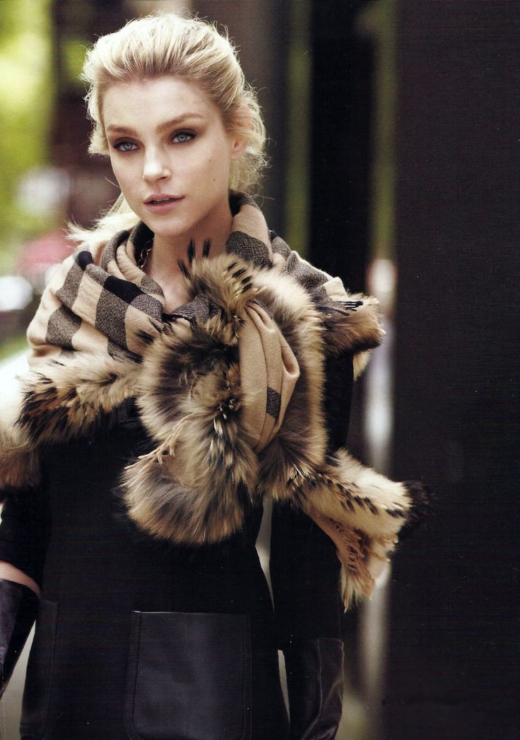 Burberry scarf, with a hint of glamour