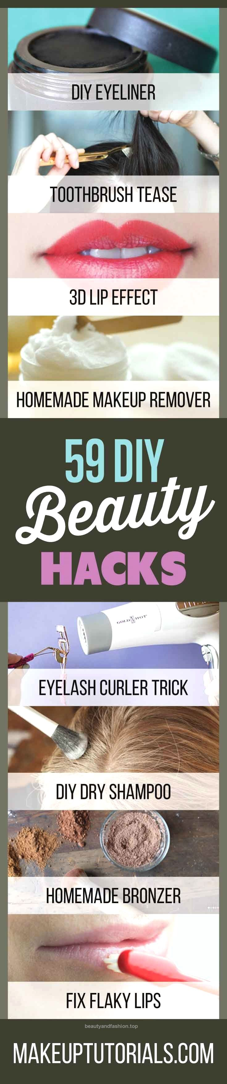 59 DIY Beauty Tutorials | Beauty Hacks You Need To Know About – Makeup Tutoria…