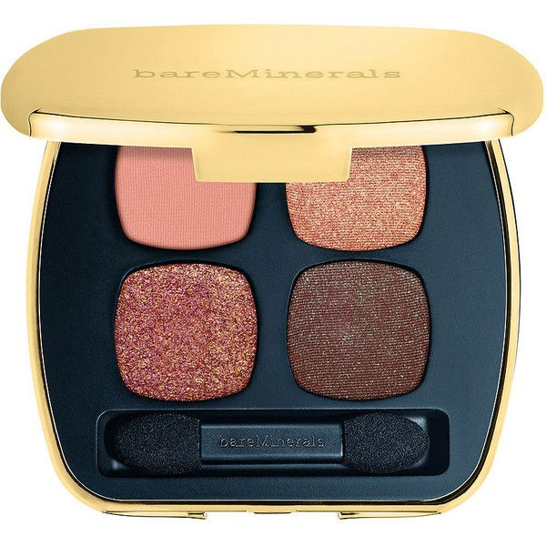 bareMinerals READY Eyeshadow 4.0 Quad, The Instant Attraction 0.17 oz... (520 MXN) ❤ liked on Polyvore featuring beauty products, makeup, eye makeup, eyeshadow, bare escentuals eyeshadow, palette eyeshadow, bare escentuals eye shadow, mineral eye shadow and mineral eyeshadow