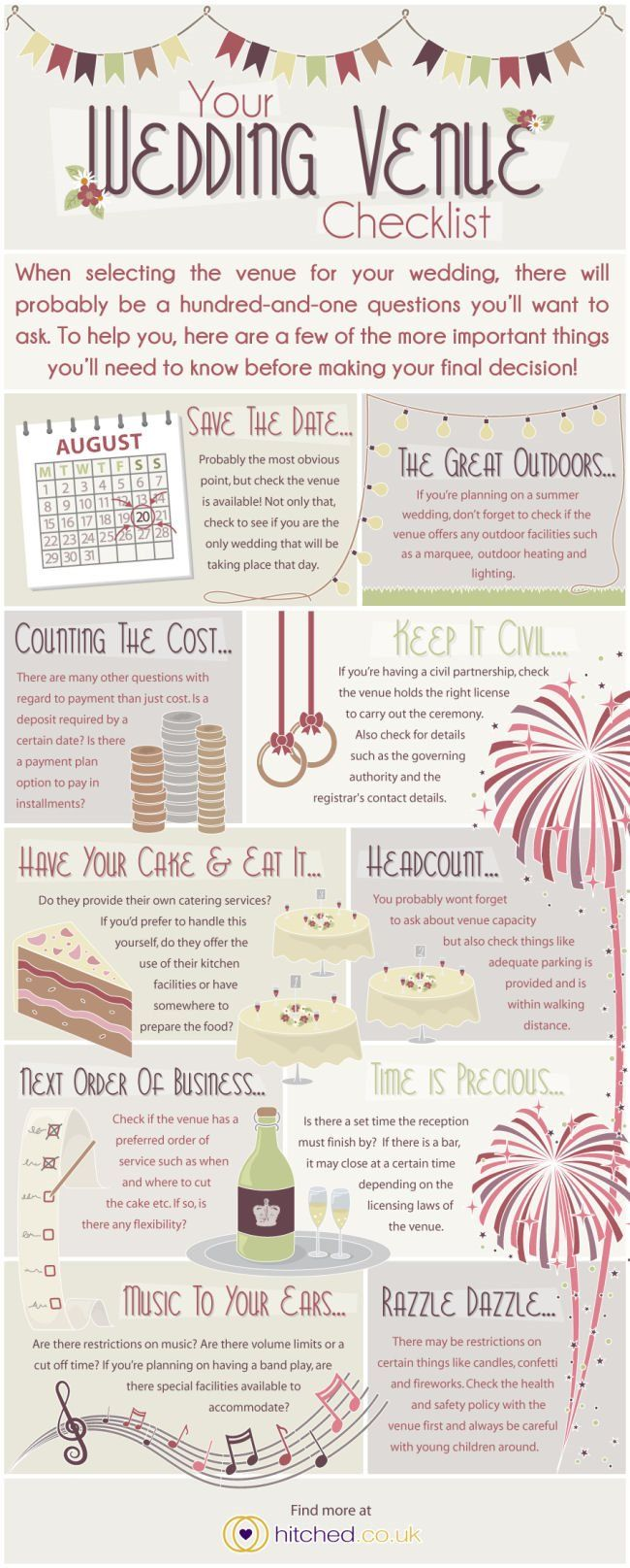 Your Wedding Venue Checklist {Infographic}