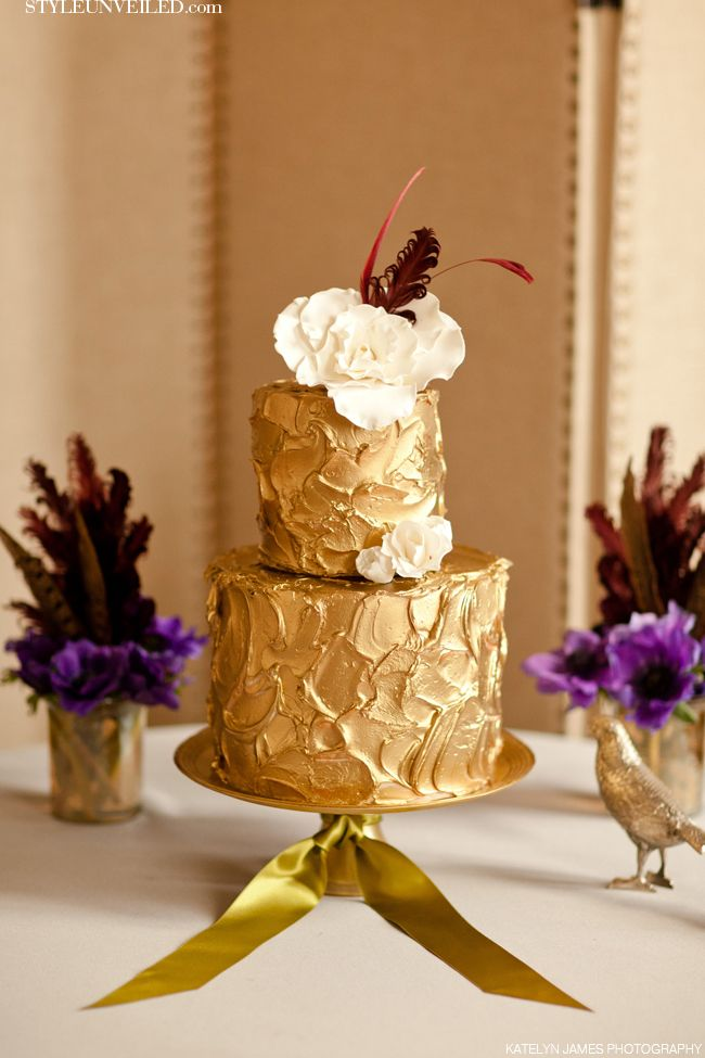 Gold Wedding Cake By K Rose Cakes Katelyn James Photography Style Unveiled