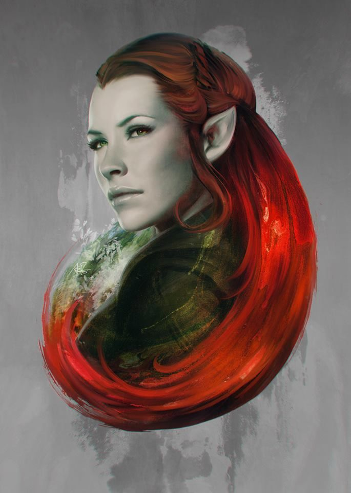 The Hobbit - Tauriel by Artgerm | Stanley Lau * As long as she keeps her nasty hands off Kili I'll like her. <--- And vise versa